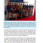 Strength and Conditioning for Gaelic Games